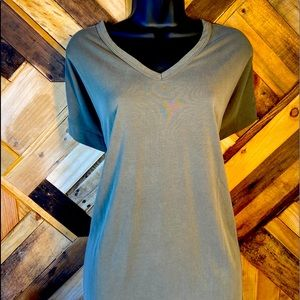Lavender Field   Buttery Soft Loose Fit Olive Tee